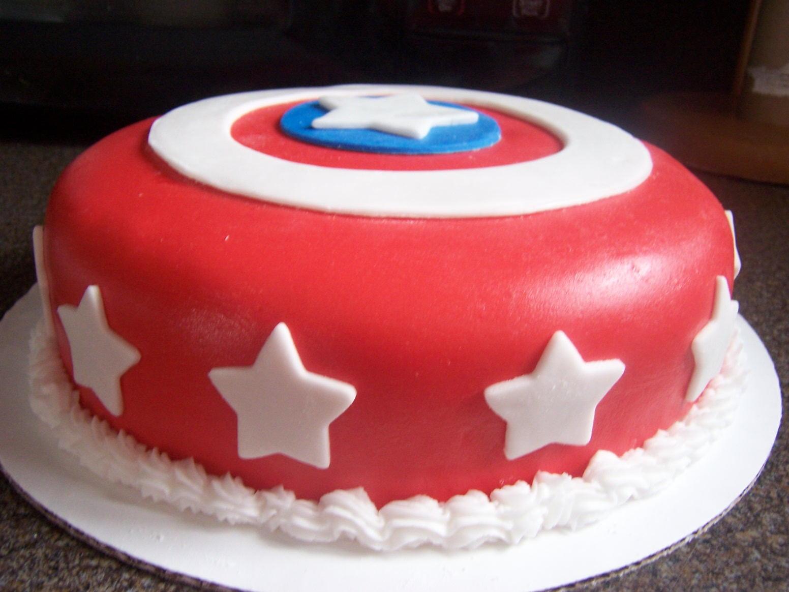 Captain America Shield Cake Sugar Shindigs
