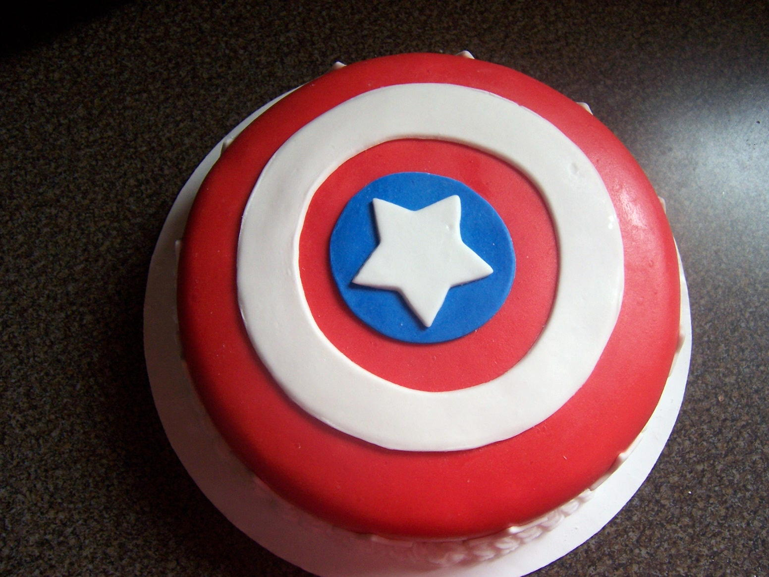 Captain America Shield Cake Singapore