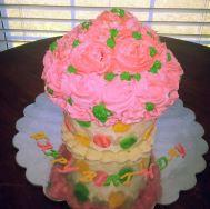 Large Cupcake Cake $55