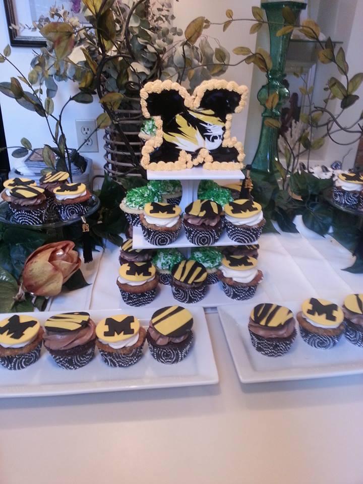 Mizzou Cake and Cupcakes